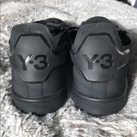 outlet store 88e3b 8bfc1 Adidas Y-3 Stan Smith Zip Black